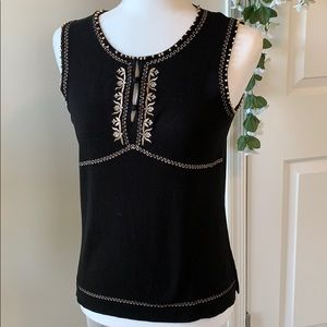 Two piece sweater set with embroidery & beads